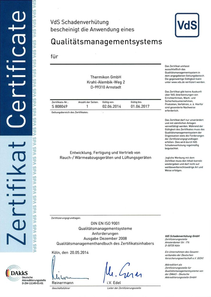 "pdf Zertifikat ""Qualitätsmanagement"" VdS"