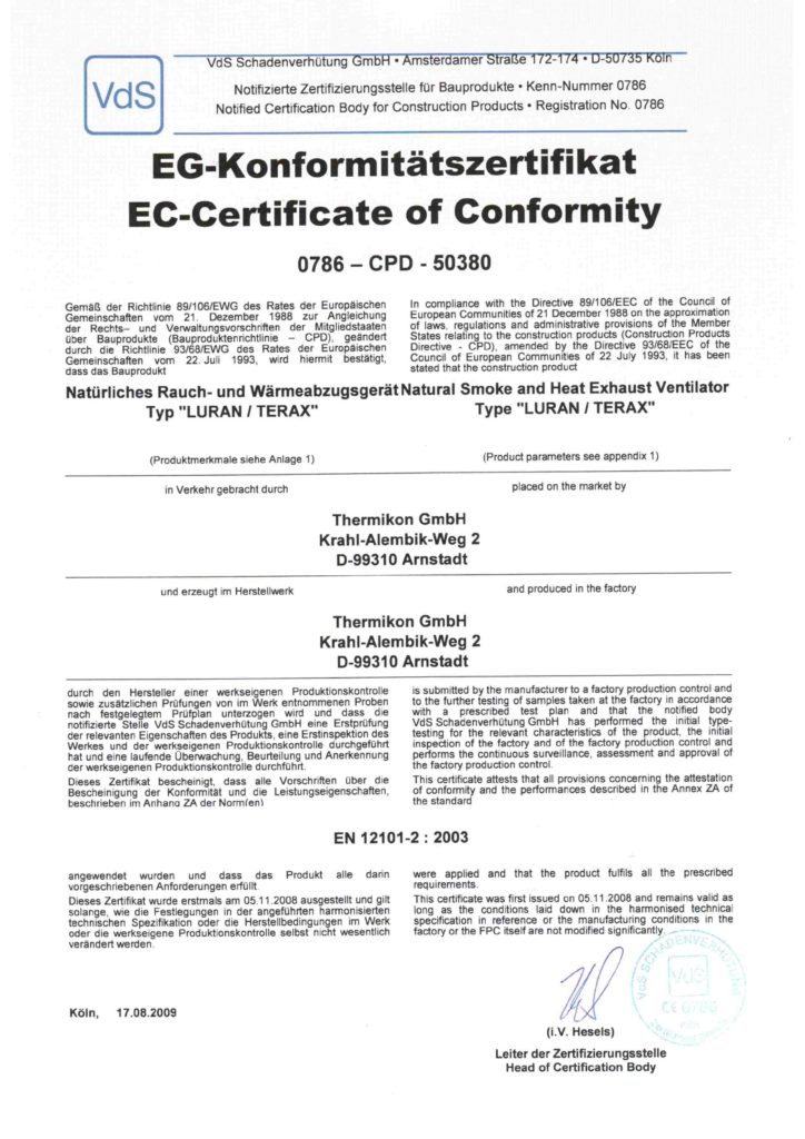pdf EG-Konformitätszertifikat der VdS