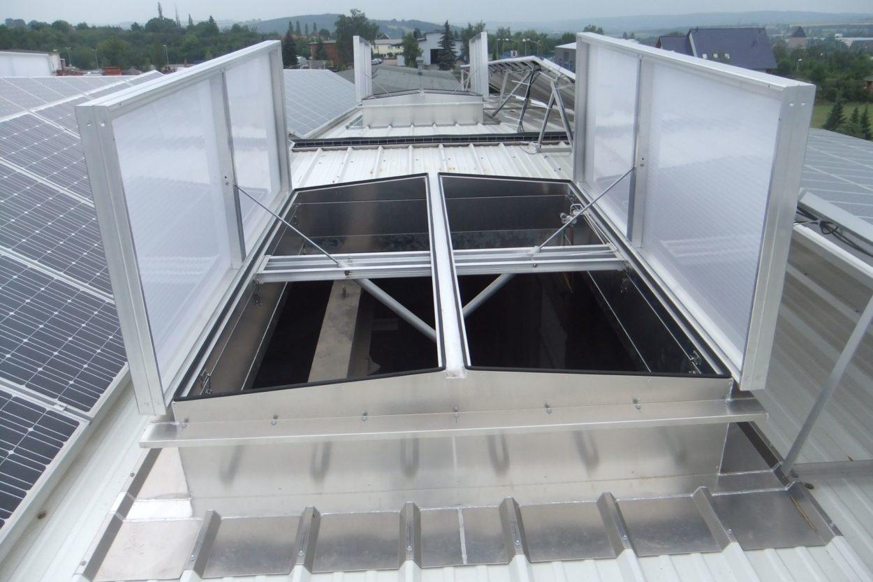 Terax: Natürliches Rauch- und Wärmeabzugsgerät für die Industrie